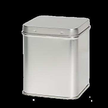 Sølvdåse firkantet m/hængslet låg rummer ca. 400 gr.